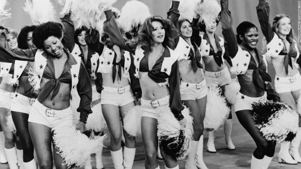 The Dallas Cowboy cheerleaders have come a long way since the 1970s.