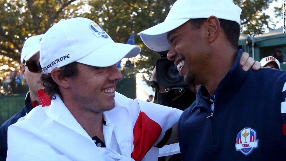 Teamwork helps when conjuring a comeback. Europe's golfers staged a record recovery in the 2012 Ryder Cup, clawing back a four-point deficit on the final day to defeat the U.S. on home soil in Illinois. There were no hard feelings between the defeated Tiger Woods (right) and the victorious Rory McIlroy on the 18th green at Medinah.