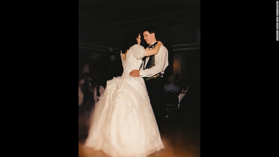 Charlie and Marie Roberts at their wedding in 1996.