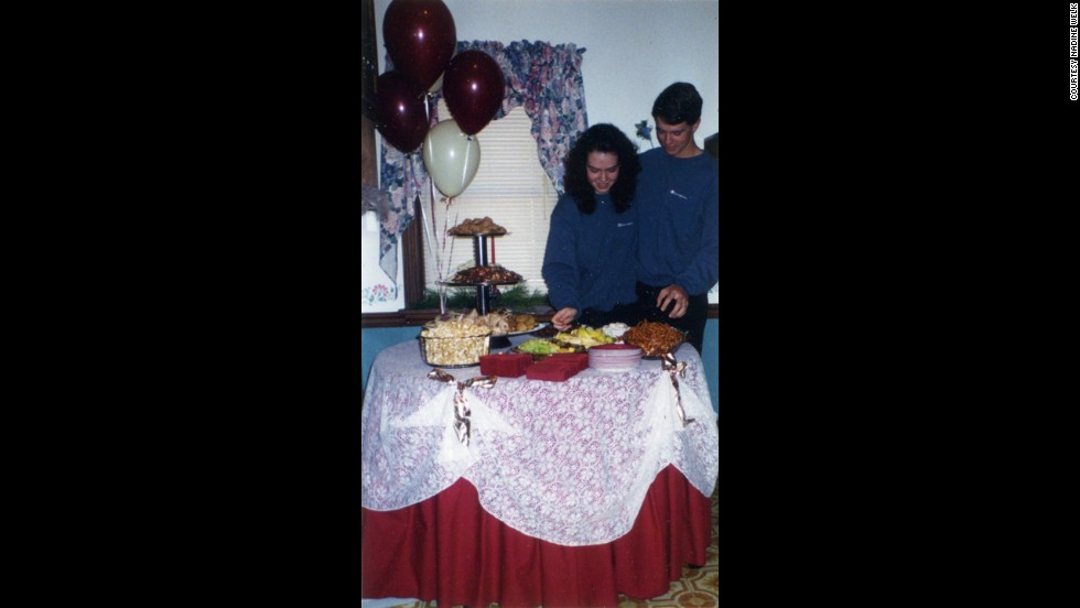 Charlie and Marie at their engagement party in 1996.