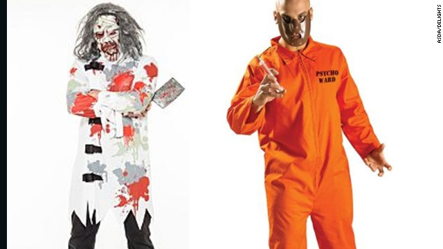 "British retailers have removed ""mental patient"" and  ""psycho ward"" Halloween costumes from their online stores."