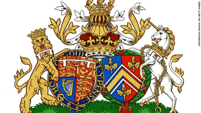 The new Conjugal Coat of Arms for Prince William, Duke of Cambridge and Catherine, Duchess of Cambridge of the UK.
