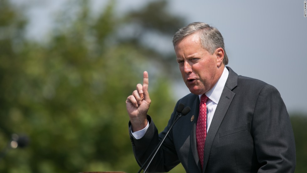 "<a href=""http://www.cnn.com/2013/09/27/politics/house-tea-party/index.html""><strong>Rep. Mark Meadows, R-North Carolina<strong></a></strong> </strong>--<strong> </strong>The architect. During Congress' August recess, the tea party-backed freshman wrote to Republican leaders suggesting that they tie dismantling Obamacare to the funding bill. Though initially rejected by GOP leadership, 79 of Meadows' House colleagues signed on to the letter, which quoted James Madison writing in the Federalist Papers, ""the power over the purse may, in fact, be regarded as the most complete and effectual weapon ... for obtaining a redress of every grievance."""