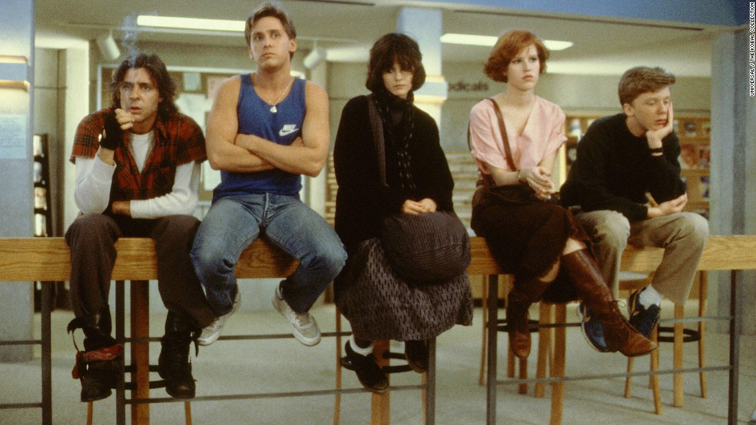 "In the '80s classic ""The Breakfast Club,"" Judd Nelson, left, plays the tough guy to Emilio Estevez's jock, Ally Sheedy's ""basket case,"" Molly Ringwald's popular princess and Anthony Michael Hall's nerd. It's not always clear who the bully was here."