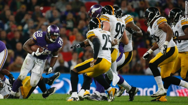 Vikings running back Adrian Peterson showcased the best of the NFL in London