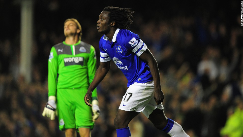 Romelu Lukaku is still only 20 but has already won 20 full international caps. Arguably the jewel in Belgium's emerging crop of stars, many observers think he is Chelsea's best striker, though he is spending this season on loan at Everton. Here Lukaku, who was born in Antwerp, celebrates after scoring against Newcastle in the English Premier League.