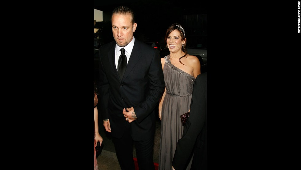 "In 2007, Bullock steps out with her then-husband, Jesse James, at the premiere of ""Premonition"" in Hollywood."