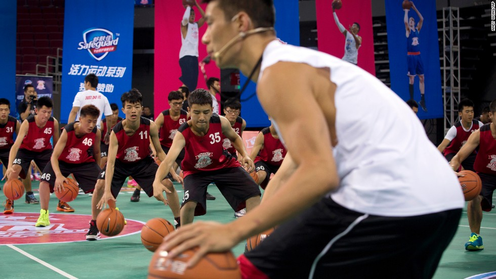 "Lin led a session during a basketball camp in Beijing on August 25. It's important to understand your abilities, Lin said, but ""you can also understand that it's a team game and that no man is above another person."""