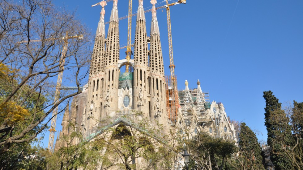 Catalan architect Antoni Gaudi's famed church is the sixth most selfied place in the world, with 4,970 hits.