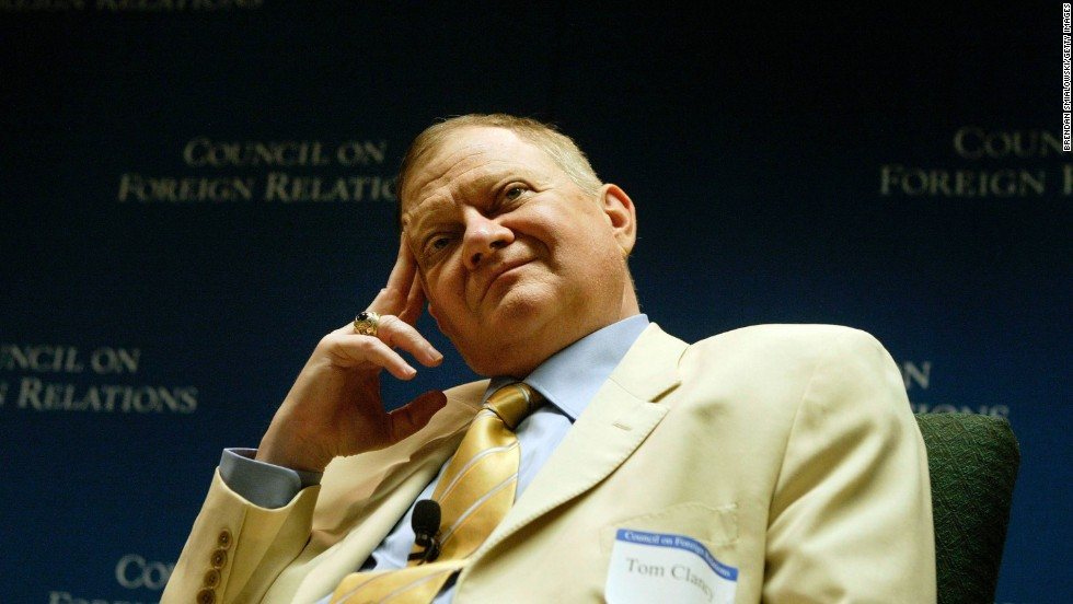 Clancy listens to questions during a discussion hosted by the Council on Foreign Relations in Washington in 2004.