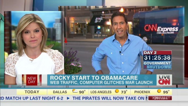 Rocky rollout for Obamacare on Day #1