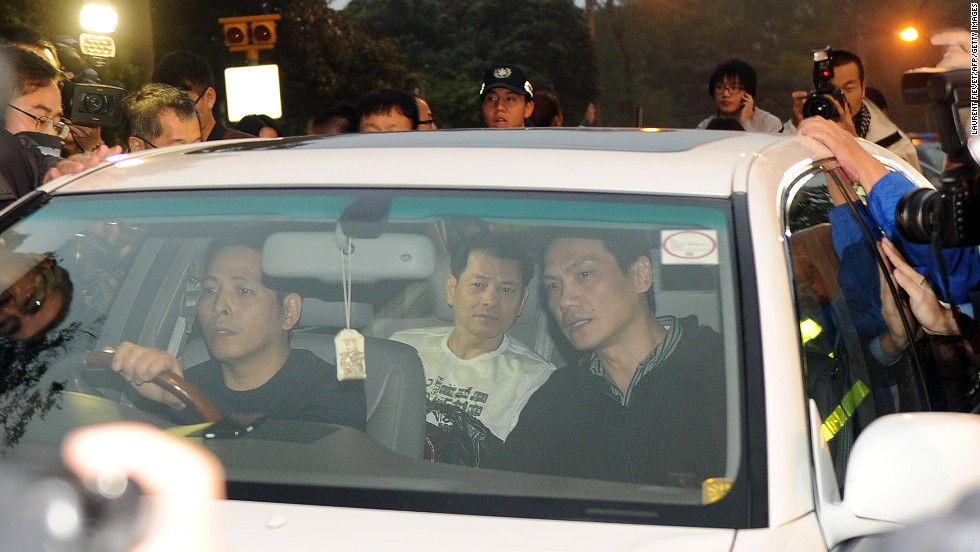 Shown here not living up to his nickname (Broken Tooth), Macau's biggest crime boss Wan Kuok-koi was released from prison in December 2012.