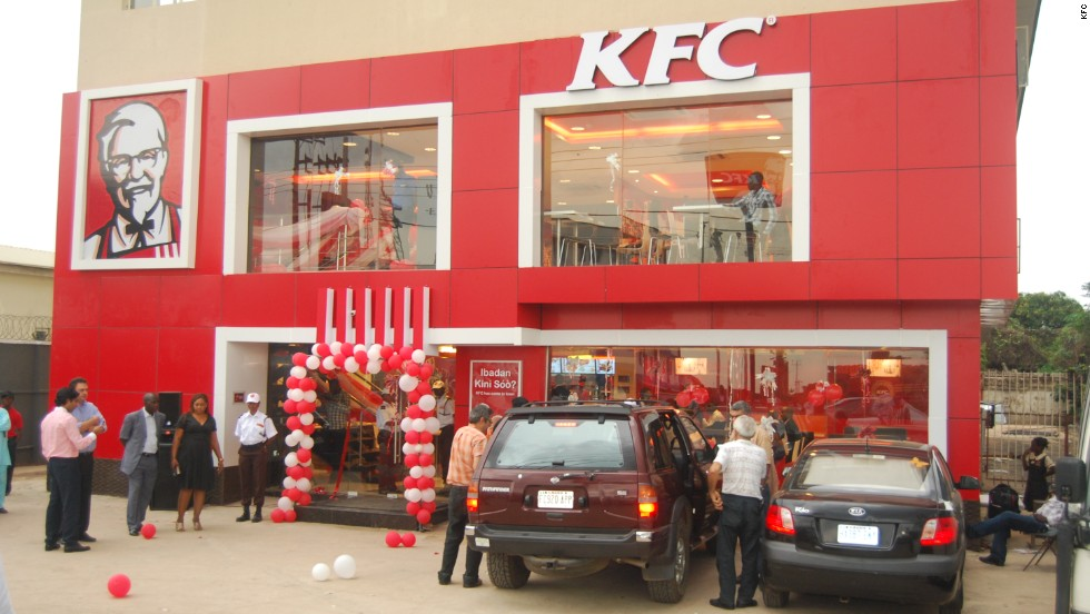 The opening of a new KFC in Ibadan, Nigeria.