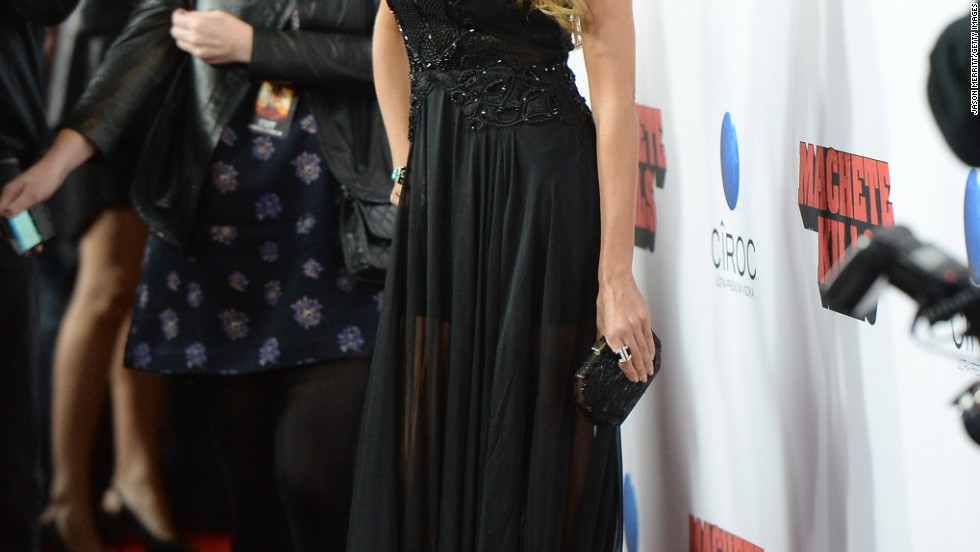 "Sofia Vergara arrives at the October 2 premiere of ""Machete Kills"" in a killer black gown."