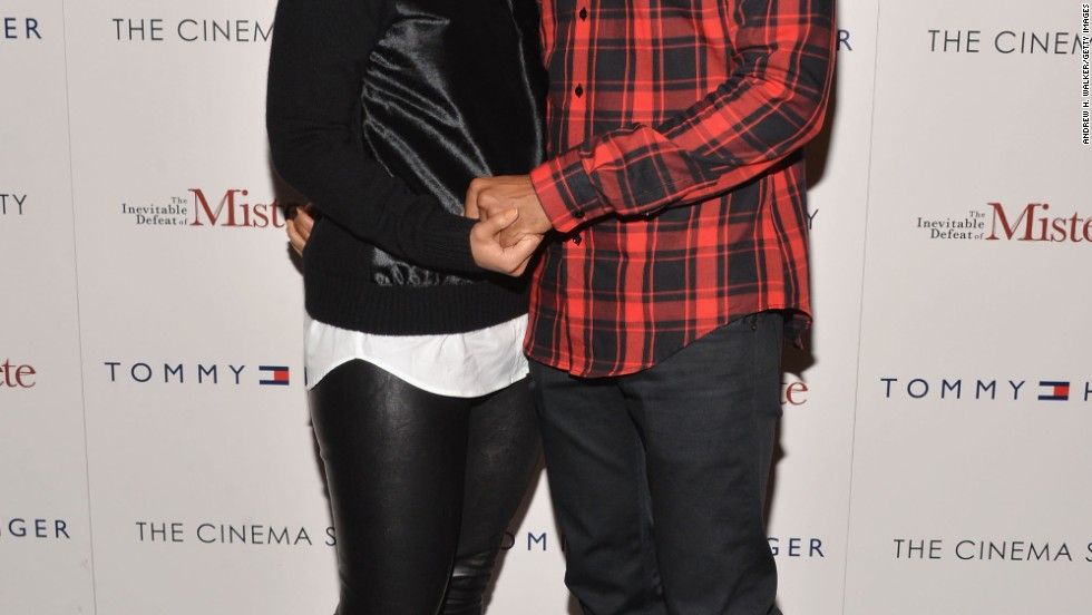 "Alicia Keys and Swizz Beatz feel the love at a screning of ""The Inevitable Defeat of Mister & Pete"" on October 2 in New York City."