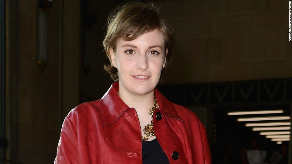 Lena Dunham is tres chic at the Miu Miu show in Paris on October 2.