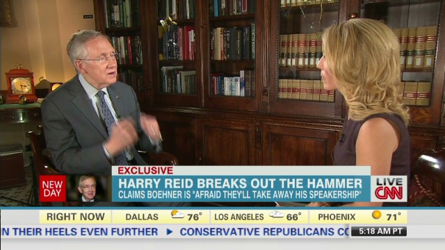 Harry Reid breaks out the hammer