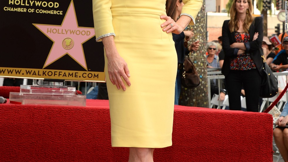 Julianne Moore beams as she receives a star on the Hollywood Walk of Fame on October 3.