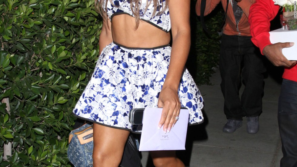 """Dancing With the Stars"" contender Christina Milian shows off a toned physique on October 3."