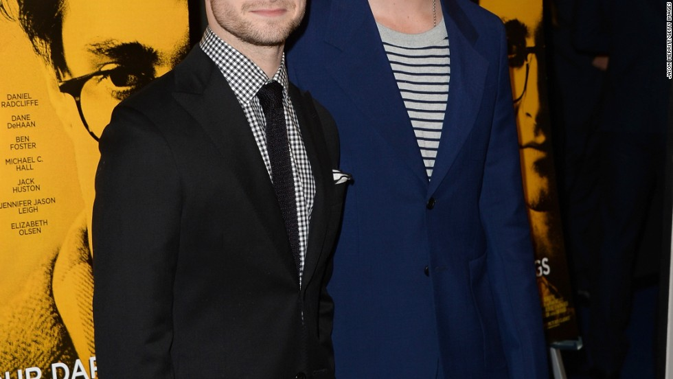 """Kill Your Darlings"" co-stars Daniel Radcliffe and Dane DeHaan arrive at the"