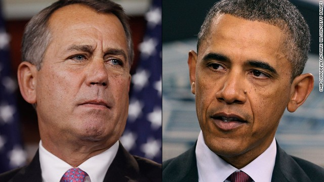 Obama, Boehner spar over shutdown