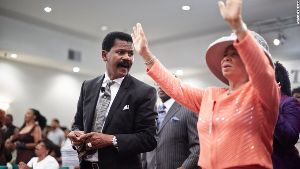 Bishop Ron Gibson and his wife, Lavette, attend church