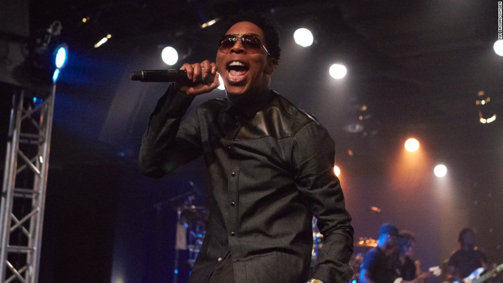 Minister Deitrick Haddon performs at the City of Refuge in Los Angeles.