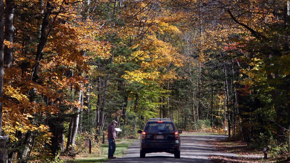 A camping party at the Dolly Copp campground in Gorham, New Hampshire, on October 9 is told that the park will close on Thursday, October 10, at noon.  The privately run campground in New Hampshire's White Mountains National Forest was forced to close ahead of the lucrative Columbus Day weekend because of the federal government shutdown.
