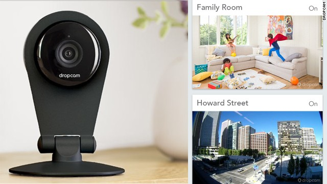 The simple Dropcam surveillance camera lets people watch their homes, and pets, live from mobile apps.