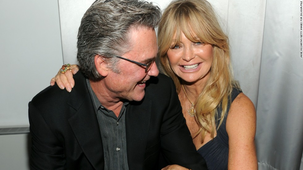 "Actor Kurt Russell, 64, and partner Goldie Hawn, 70, are championed as one of the happiest unmarried couples around. Whenever we see them, they're always beaming. Onlookers at a New York movie premiere in September 2014 <a href=""http://www.express.co.uk/news/showbiz/432333/Goldie-Hawn-and-Kurt-Russell-prove-they-re-more-in-love-than-ever-at-charity-event"" target=""_blank"">commented that the two could hardly keep their hands off one another. </a>"