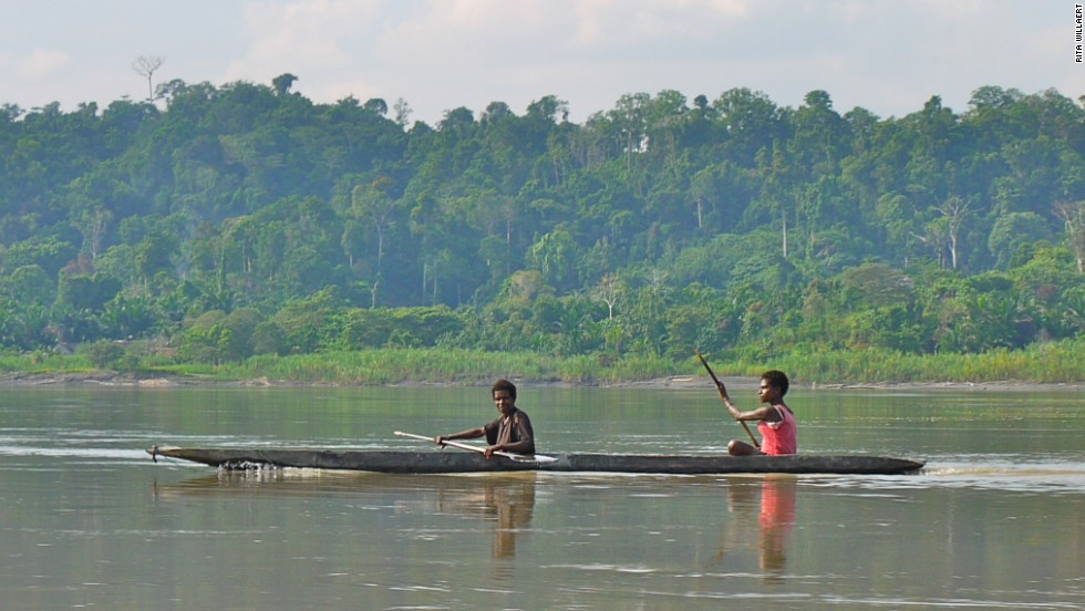 Referred to as the Amazon of the Asia-Pacific, Papua New Guinea's Sepik River is among the world's most diverse ecosystems. Locals travel by dugout canoe through the Sepik's dense rainforests and mangrove swamps.