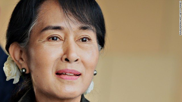Aung San Suu Kyi won the Nobel Peace Prize in 1991.  Raveendran/AFP/Getty Images