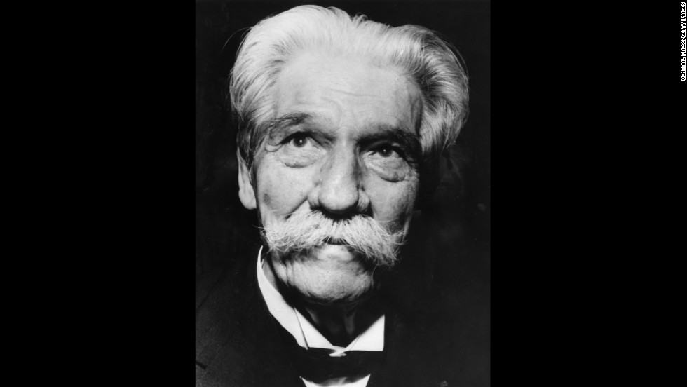 Dr. Albert Schweitzer -- a physician, philosopher and theologian -- won the Nobel Peace Prize in 1952.