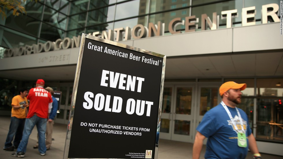Tickets sold out in the first 20 minutes of online sales for the 32nd annual Great American Beer Festival.
