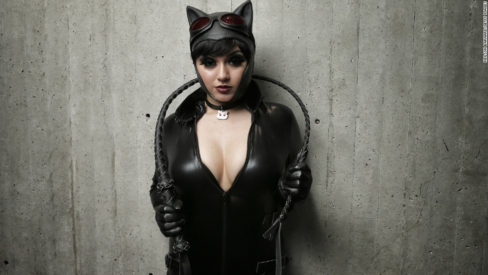 Catwoman is a popular character at these conventions. Actresses that have donned the cat costume include Julie Newmar, Lee Meriwether, Eartha Kitt, Michelle Pfeiffer, Halle Berry and Anne Hathaway.
