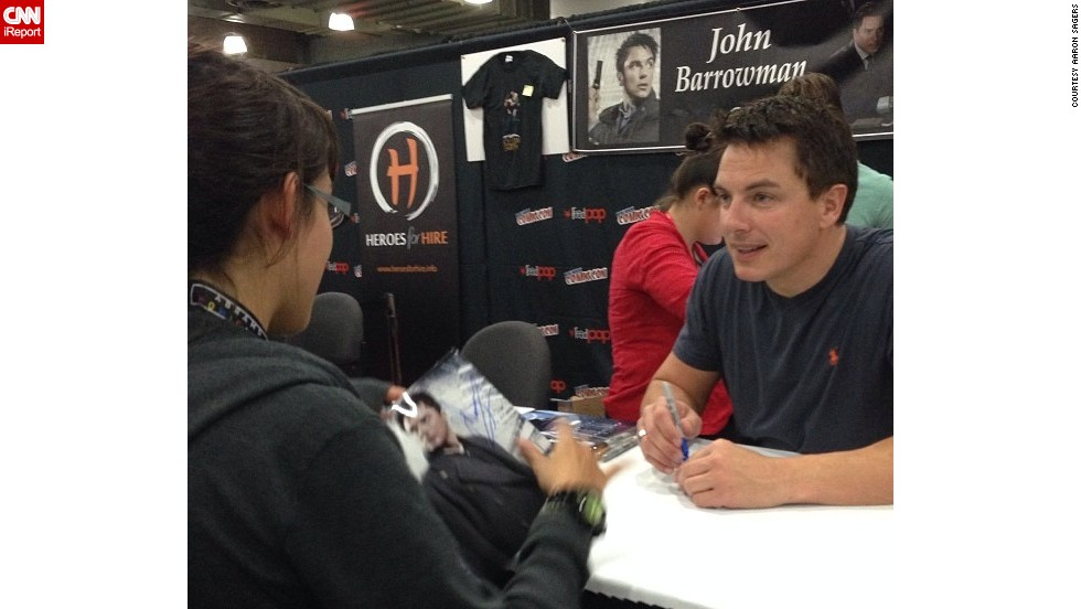 "<a href=""http://t.co/MgOcaug8J0"" target=""_blank"">John Barrowman</a>, star of ""Arrow,"" ""Torchwood"" and ""Doctor Who,"" was a popular attraction for fans."