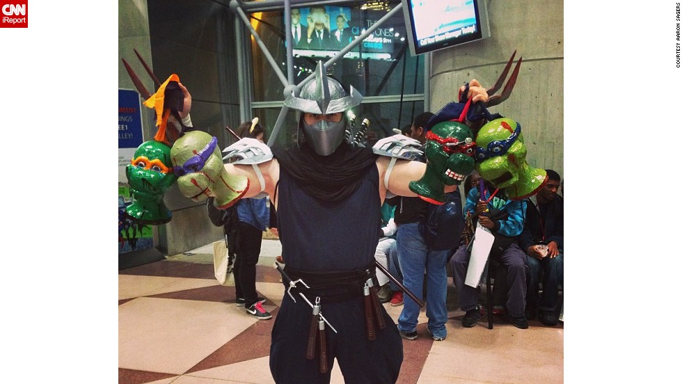 "A nightmare for<a href=""http://instagram.com/p/fWUKP5HlYJ/"" target=""_blank""> ""Teenage Mutant Ninja Turtles""</a> fans brought to life."