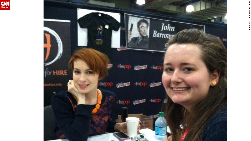 "A big part of Comic Con for many fans is meeting some of their favorite celebrities. Carinna Files, right, <a href=""http://t.co/QAfvobfXqE"" target=""_blank"">was thrilled</a> to meet Felicia Day."
