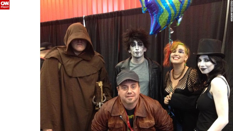 "This group of ""Sandman""-inspired cosplayers -- Death, Delirium, Destiny and Dream -- had a very special moment meeting ""Sandman"" colorist Danny Vozzo."