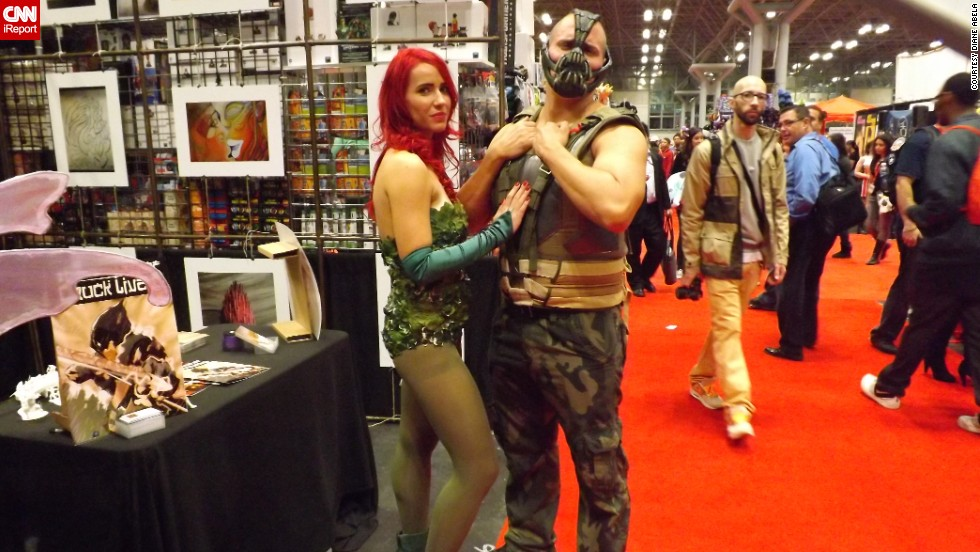 "Two of Batman's archenemies, <a href=""http://ireport.cnn.com/docs/DOC-1047657"">Poison Ivy and Bane</a>."