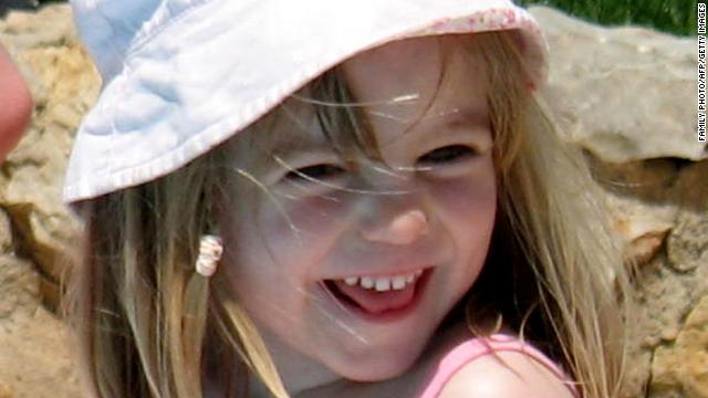 Madeleine McCann on May 3, 2007, the same day she went missing from her family's holiday apartment in Portugal.