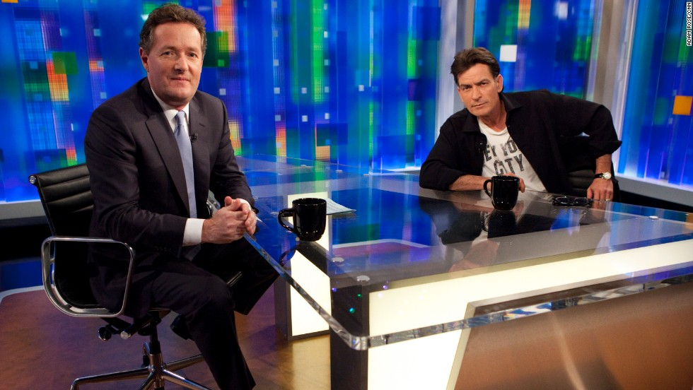 "Morgan called Charlie Sheen's February 2011 ""Piers Morgan Tonight"" appearance ""an electrifying interview, one of those times when you know it's going to make news, and anything can happen."""