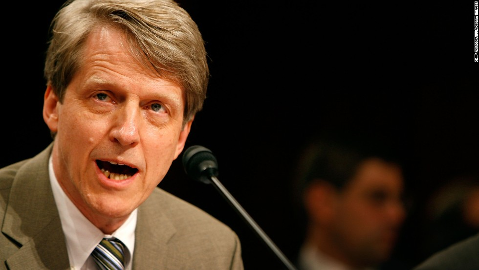 Yale University professor Robert Shiller, famous for his warnings of the housing and Internet bubbles, is one of three Americans who were awarded the Nobel Prize in economics on Monday, October 14. The Nobel committee recognized Shiller and University of Chicago professors Eugene Fama and Lars Peter Hansen for their work on the pricing of financial assets.