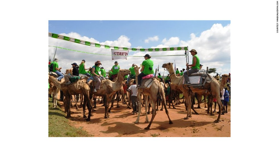 Every August, the International Maralal Camel Derby takes place in the Samburu region of Kenya. It's mainly a sports competition between both professional and amateur camel jockeys.