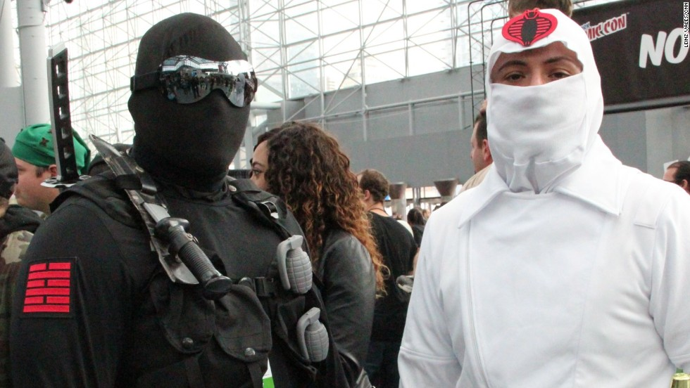 """Snake Eyes"" and ""Storm Shadow"" at Comic Con."