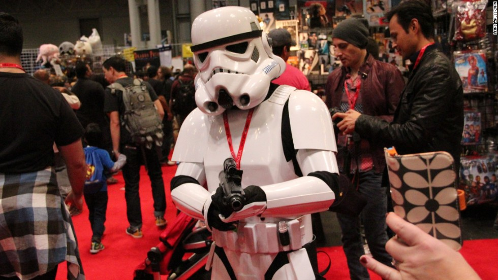 This Stormtrooper is always ready to protect the empire.