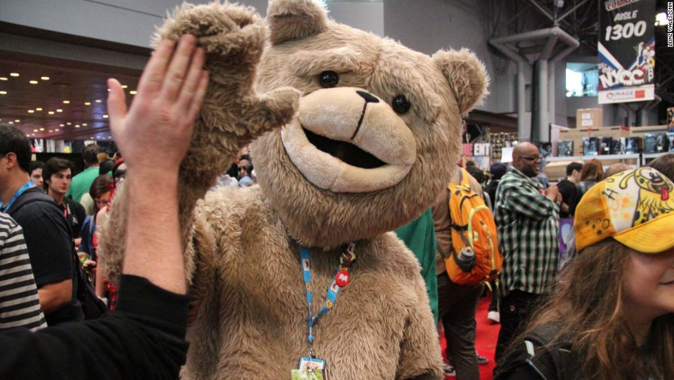 "'Ted"" walks the grounds of Comic Con giving fans high fives"