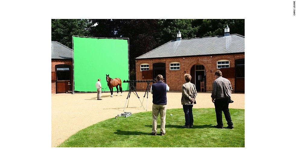 Levine wanted to shoot Frankel in direct sunlight to show off the gleam of his coat. But predictable cloudy British weather meant he had to wait six days in order to shoot the horse.