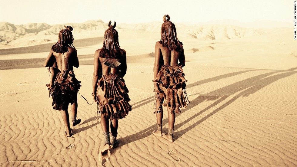 "Nelson said the most pleasant trip was visiting the Namibian Himba. ""The aesthetic of their body, of their dress, of their dance and of their movement I find extraordinary and very few of us will ever look as beautiful as them,"" he says."