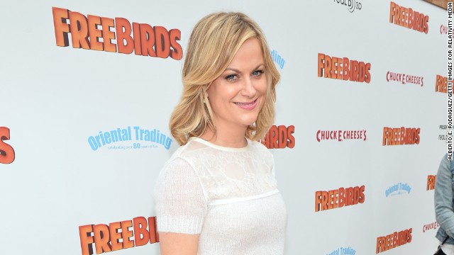 "Amy Poehler arrives at the premiere of Relativity Media's ""Free Birds"" at the Westwood Village Theatre on October 13, 2013 in Hollywood, California."